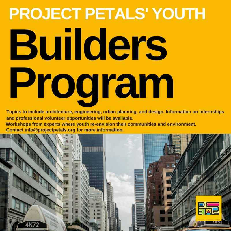 Do you have an interest in exploring architecture, engineering, urban planning and design. Please click the link above, to sign-up for one of our youth workshop.